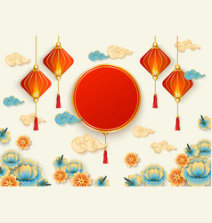 Beautiful chinese new year culture celebration vector