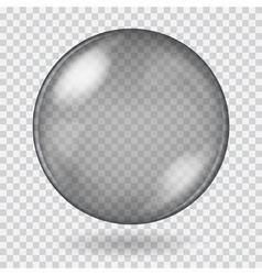 Big black transparent glass sphere vector