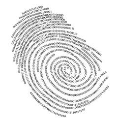 binary finger print vector image