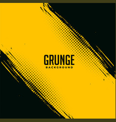 black and yellow grunge abstract background design vector image