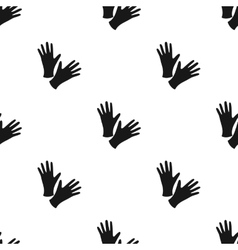 Black protective rubber gloves icon black Single vector image