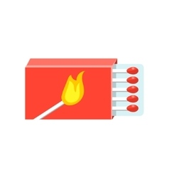 Box With Matches Simplified Icon vector