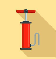 car air pump icon flat style vector image