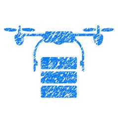 Cargo drone grunge icon vector