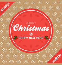 christmas banner background brown and red vector image