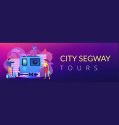 city segway tour concept banner header vector image