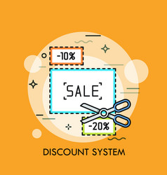 Concept of shopping discount system sale vector