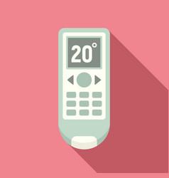 Conditioner remote control icon flat style vector