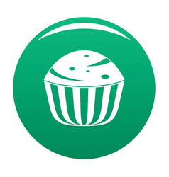 Cup cake icon green vector