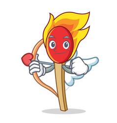 Cupid match stick character cartoon vector