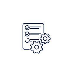 data processing icon line vector image