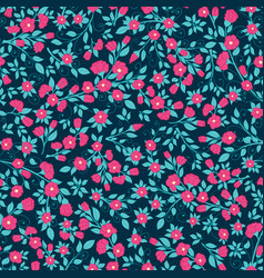 dense floral seamless pattern texture vector image