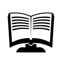 Digital book icon ebook design graphic vector