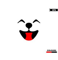Dog smile logo vector