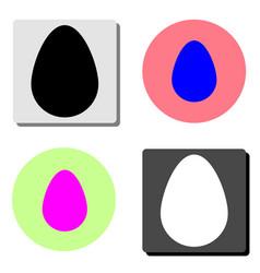 egg flat icon vector image