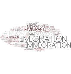 Emigration word cloud concept vector