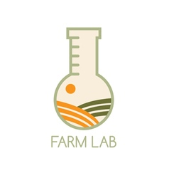 farm lab design template with field vector image