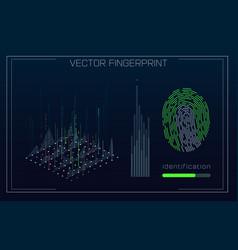 fingerprint scanning identification system in vector image