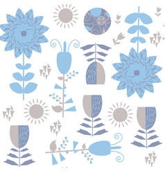 floral blue seamless pattern it is located in vector image