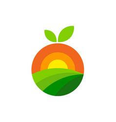 Fruit farm logo icon design vector