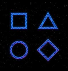 Futuristic hologram hud blue geometric vector