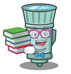 Geek flashlight cartoon character style vector