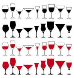 glass set vector image vector image