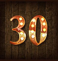 Golden number 30 vector