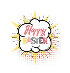 happy easter hand drawing lettering design vector image