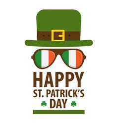 happy saint patricks day greetings symbol vector image