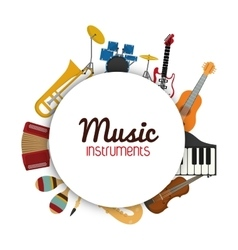 Icon set of Music instrument graphic vector image vector image