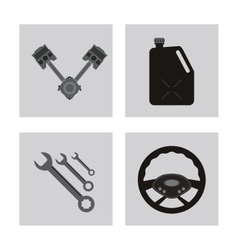 icon set over frames Auto part design vector image