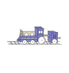 Icon train vector