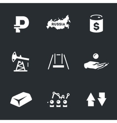 Icons Set of Russian Oil industry and vector