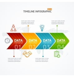Infographic Timeline with Arrow Horizontal vector image