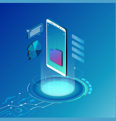 isometric design concept mobile technology vector image