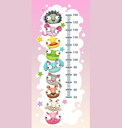 kids height chart template vector image