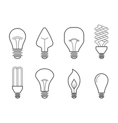 line of main electric lighting vector image
