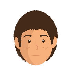 man face cartoon vector image