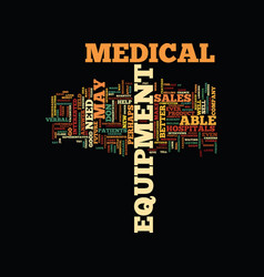 Medical equipment sales careers text background vector