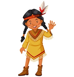 Native american indians greeting vector image