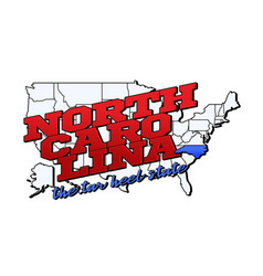 north carolina state with us carolina state vector image