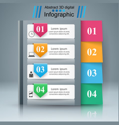 Notepad notebok icon abstract infographic vector