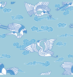 Oriental seagulls pattern vector
