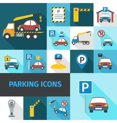 Parking Icons Flat vector image