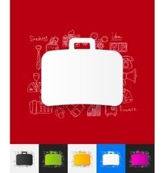 Portfolio paper sticker with hand drawn elements vector