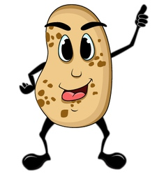 Potato cartoon thumb up vector