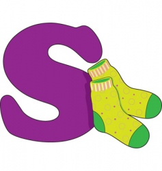 S is for socks vector image