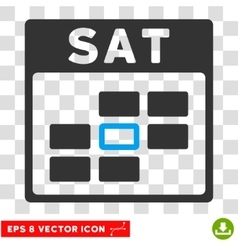Saturday Calendar Grid Eps Icon vector