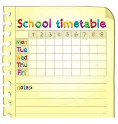 School timetable topic image 4 vector